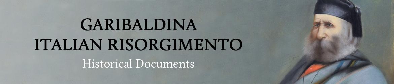 Garibaldina - Italian Risorgimento - Historical Documents