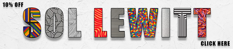 Banner Sol Lewitt Promotion, Contemporary Artist