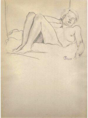Lying Nude Figure -  Ernest Rouart - Modern Art
