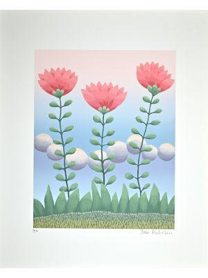 Ivan Rabuzin - Pink Flowers - Contemporary Art
