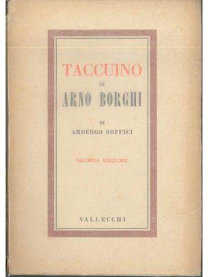 Ardengo Soffici, Taccuino di Arno Borghi, Florence, Vallecchi, Futurism, Futurist Rare Books, Rare Books