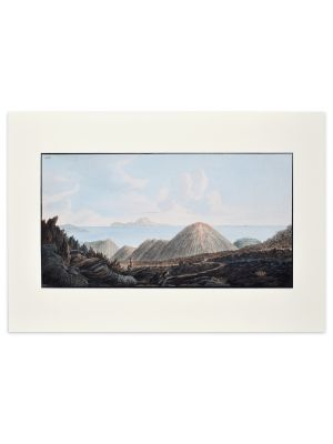 Landscape Campi Phlegraei - Plate XIII Naples - View of Capri by Pietro Fabris - Old Master Artwork