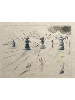 Don Quichotte et les moulins à vent - SOLD