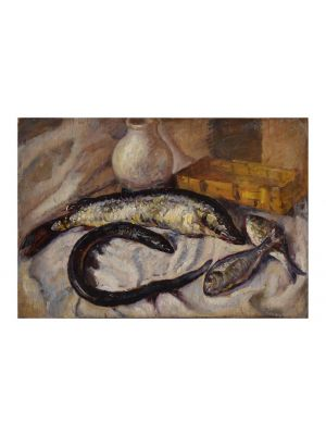 Still Life with Fishes by an Italian artist of XIX century - Modern Artwork