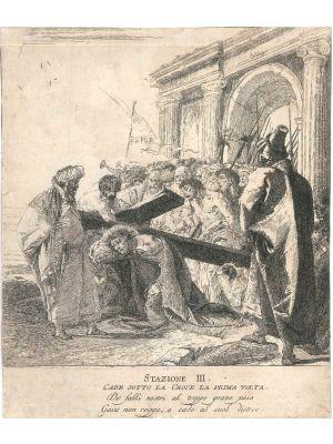Stazione III, Cade sotto la Croce la prima volta, by Giandomenico Tiepolo - Old Master