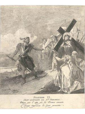 Stazione VI, Gesù asciugato da S.ta Veronica, by Giandomenico Tiepolo - Old Master