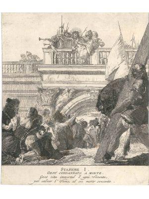Stazione I, Gesù condannato a morte by Giandomenico Tiepolo - Old Master