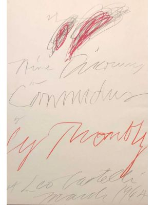 Contemporary Art, Cy Twombly, Artwork, Nine Discourses on Commodus by Cy Twombly at Leo Castelli,  art for sale, art, buy art online, prints, lithograph, online, artworks, artwork, etchings, etching, multiples, artists artwork, purchase artwork, original