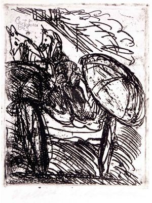 Il Calesse by Luigi Bartolini - Modern Artworks