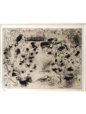 La Basse Court by Marc Chagall
