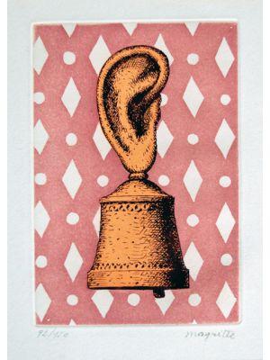 La Lecon de Musique - Son de Cloche by René Magritte - Surrealism