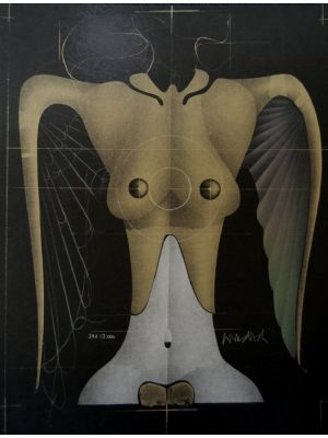Flying Woman by Paul Wunderlich - Contemporary Art
