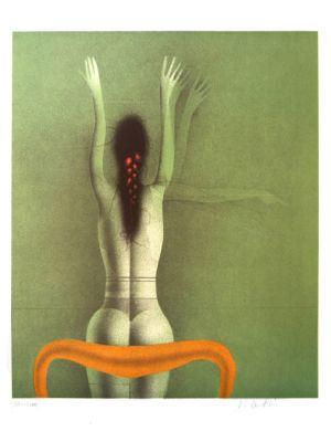 Grune Frau by Paul Wunderlich - Contemporary Art