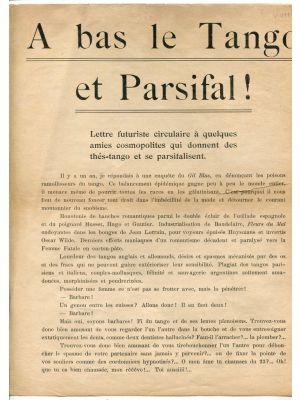 A Bas le Tango et Parsifal!