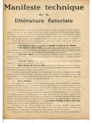 Manifeste Technique de la Littérature Futuriste