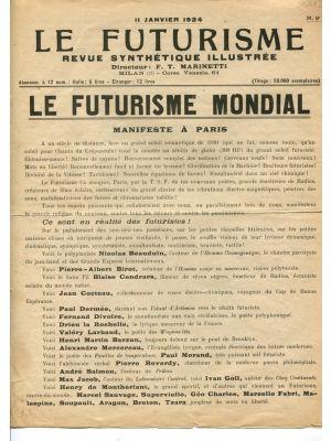 Le Futurisme - Le Futurisme Mondial - Futurisme et Fascisme