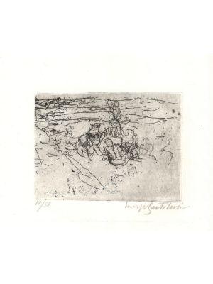 Donne sulla spiaggia by Luigi Bartolini - Modern Artwork