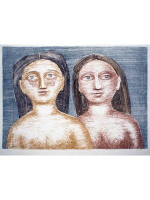 Modern Art, Artwork, Prints, Lithograph, Massimo Campigli, Due Nudi, art for sale, art, buy art online, prints, lithograph, online, artworks, artwork, etchings, etching, multiples, artists artwork, purchase artwork, original artworks, buy artwork, afforda
