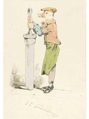 The Chemist by Jean- Jacques Grandville - Modern Artwork