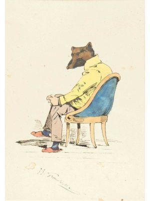 The Intellectual by Jean -Jacques Grandville - Modern Artwork