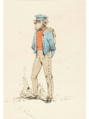 The infantryman by Jean Jacques Grandville - Modern artwork