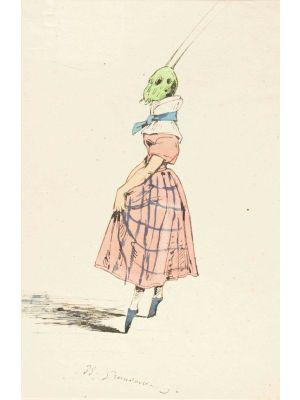 The Ballerina by Jean Jacques Grandville - Modern Artwork