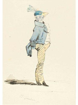 The Aristocrat by Jean-Jacques Grandville - Modern Artwork
