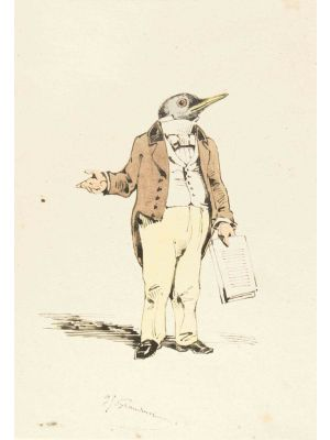 The Lecturer by Jean-Jacques Grandville - Modern Artwork