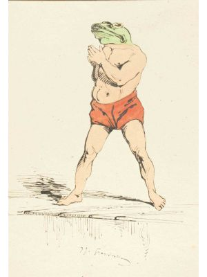 The Swimmer by Jean-Jacques Grandville - Modern Artwork