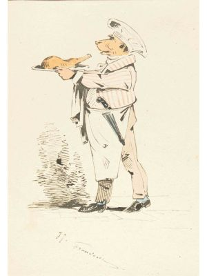 The Chef by Jean Jacques Grandville - Modern Artwork