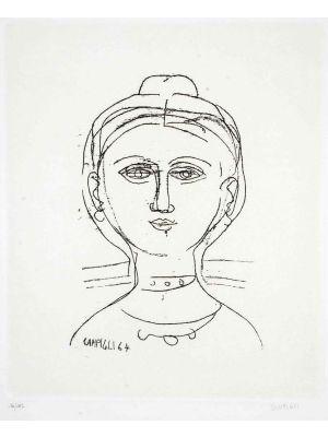 Woman by Massimo Campigli - Contemporary Artwork