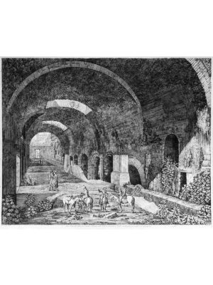 L. Rossini, Tivoli, Rome, Architecture, Ruins, Landscape, Roman, Villa, Palace, Neoclassicism, Old Masters, Artworks, Etchings, Engraves, Rue, Street,