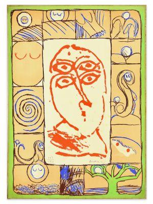 Oftalmologue by Pierre Alechinsky - Contemporary Artwork