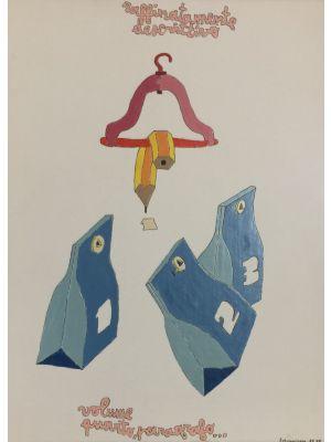 Non Nato Non Morto Il 1° Di Settembre by Pablo Echaurren - Contemporary Artwork