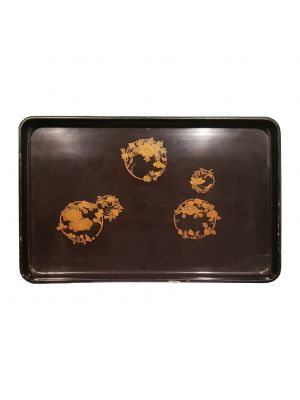 Black Chinese Tray by Anonymous - Decorative Object