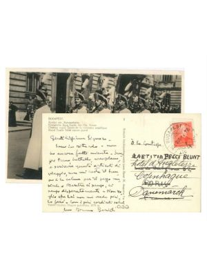 Bruno Barilli, Autograph Postcard by Barilli- Original Manuscripts