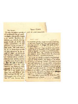 Letter from Arrigo Benedetti to Mino Maccari - Original Manuscripts