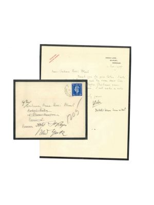 Letter from Hilaire Belloc to the Countess Pecci Blunt - Original Manuscripts