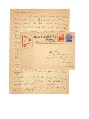 Autograph by G. Raimondi- Original Manuscripts