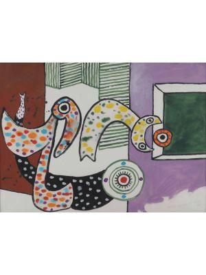Flight on the Flieblies no.1 by Alan Davie - Contemporary Artwork