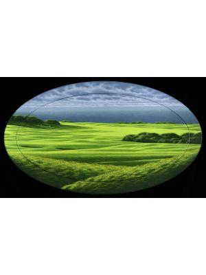 Oval Green by Daniele Fissori - Contemporary Artwork