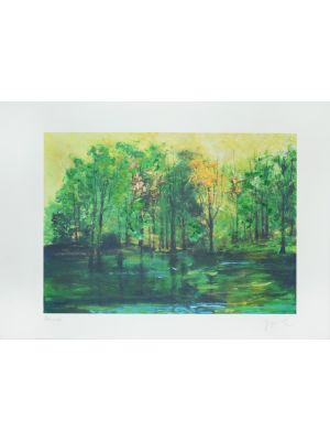 Green Forest by Martine Goeyens - Contemporary Artwork