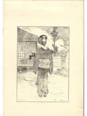 Servante by Georges Ferdinand Bigot - Modern Artwork
