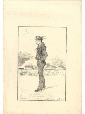 Matelot by Georges Ferdinand Bigot - Modern Artwork