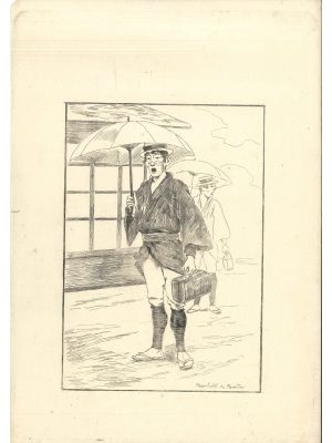 Marchand de Remèdes by Georges Bigot - Modern Artwork