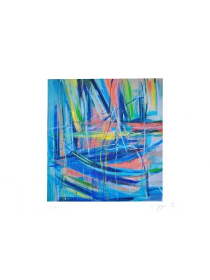 Abstract Crossings by Martine Goeyens - Contemporary Artwork