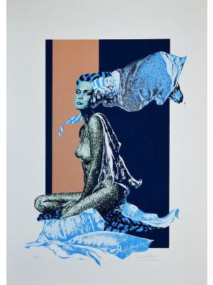 Blue Woman by Oscar Pelosi - Contemporary Artwork