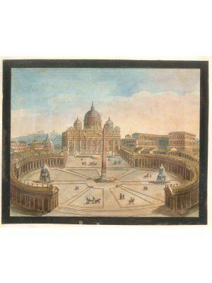 Roman Views by an Italian artist of XIX century - Old Masters Artwork