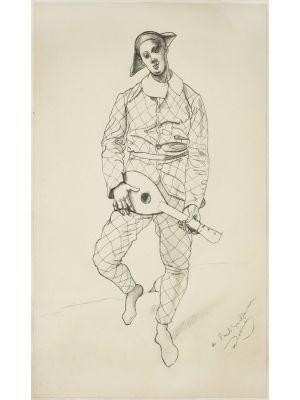 Harlequin by André Derain - Modern Artwork