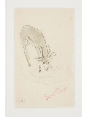 Fawn by Ernest Rouart - Modern Artwork
